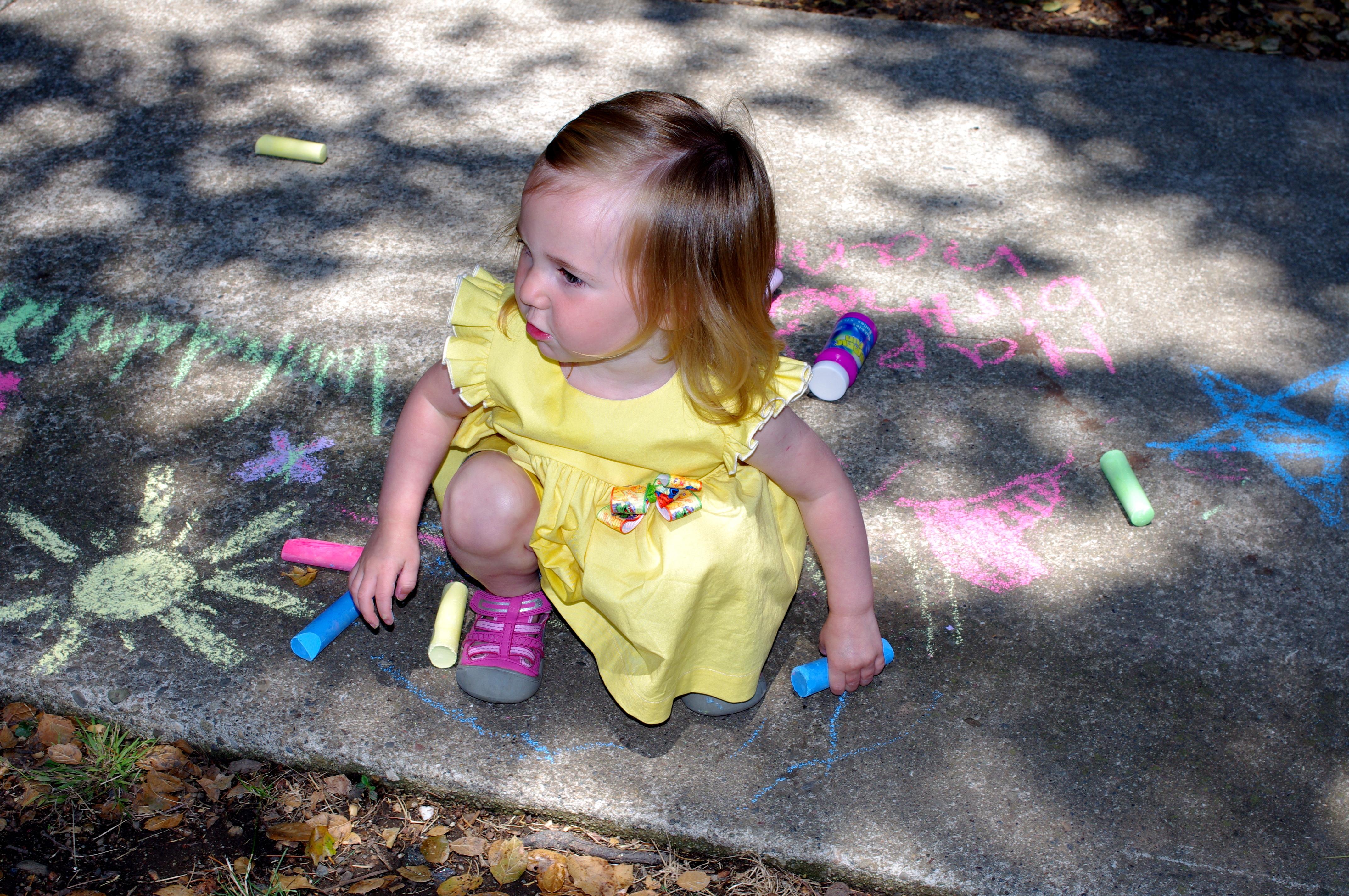Sidewalk Chalk Clip Art Bert's sidewalk chalk station:
